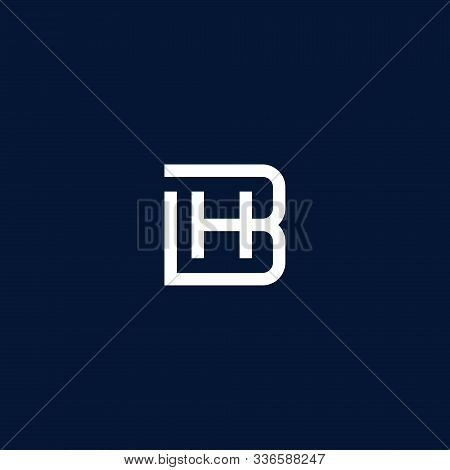 Hb / Bh Logo. Hb / Bh Monogram Logo. Hb / Bh Letter Logo Design Vector Illustration Template. Hb / B