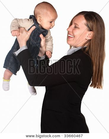 Executive Mother With Child