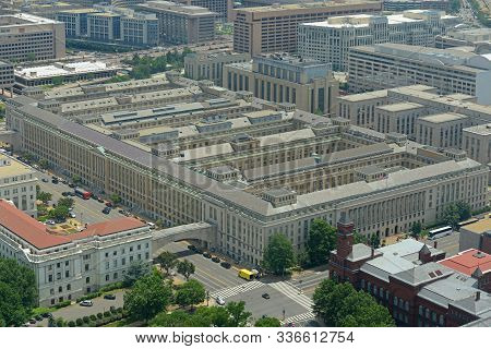 Us Department Of Agriculture Building Aerial View From Top Of The Washington Monument In Washington,