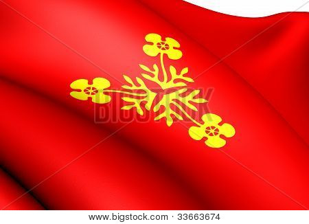 Flag of Storfjord Norway. Close Up. Front View. poster