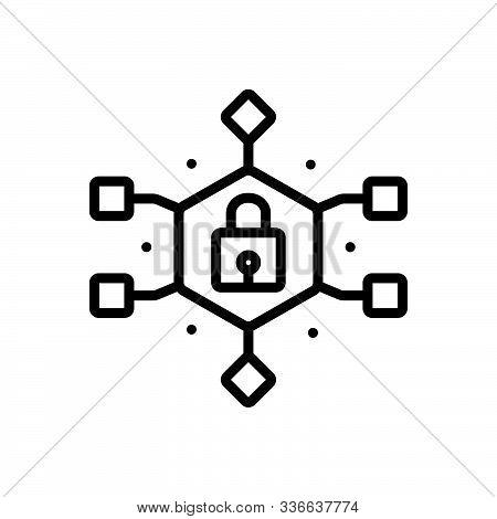 Black Line Icon For Data-encryption Data Encryption Gadget Technology