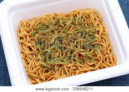 Instant Fried Noodles In A Plastic Cup, Yakisoba.