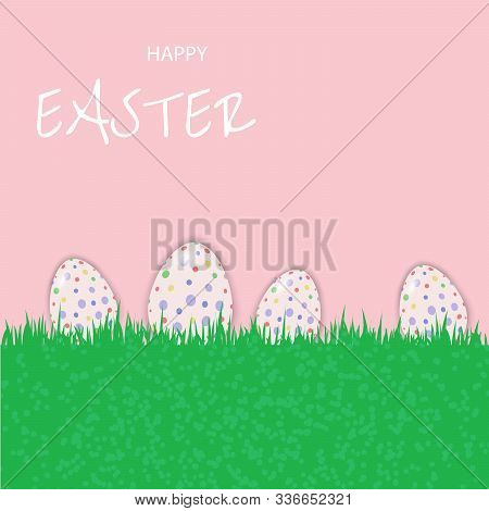 Perfect colorful handmade easter eggs isolated vector Happy Easter, easter bunny, easter background, easter banners, easter flyer, easter design,easter with flowers on red background, Copy space text area, vector illustration.