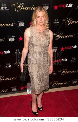 BEVERLY HILLS, CA - MAY 21: Elizabeth Shue arives at the Gracie Awards Gala on May 21, 2012 at the Beverly Hilton Hotel in Beverly Hills, California.