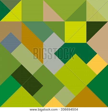 Abstract Geometric Background In Yellow-green Tones For Design And Decoration Of Flyer, Booklets, Te