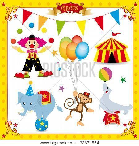 Fun Circus Set. fun circus icons for you