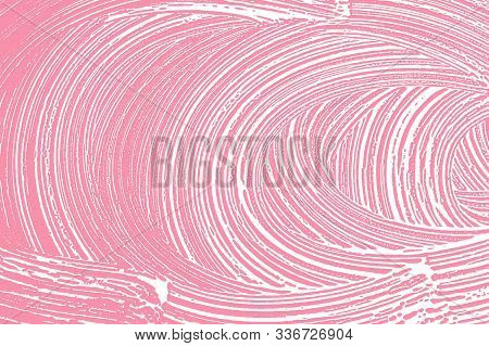Natural Soap Texture. Actual Bright Pink Foam Trace Background. Artistic Ravishing Soap Suds. Cleanl