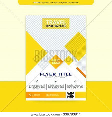 Modern Yellow Brochure Design, Brochure Template, Brochures, Brochure Layout, Brochure Cover, Brochu