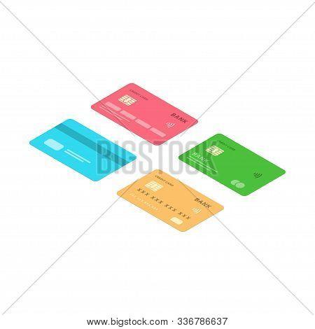 Icon Credit Card, Logo Credit Card, Isometric Design Credit Card, Vector Illustration Credit Card, C