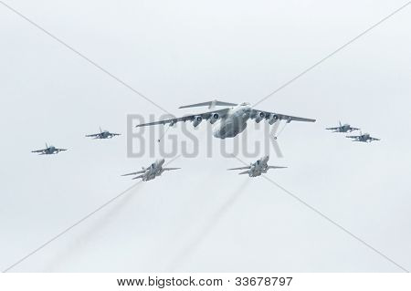 Il-78 is a four-engined aerial refueling tanker,  SU-24 is a supersonic, all-weather attack aircraft,  Yak-130 is a subsonic two-seat advanced jet trainer aircraft