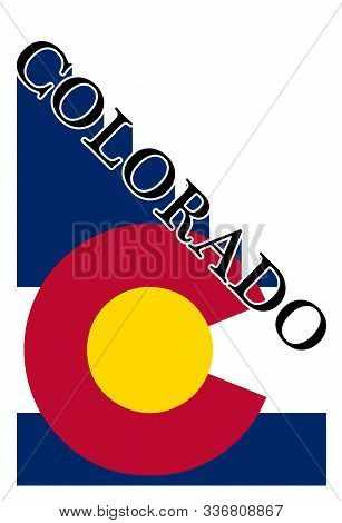 Text Proclaiming Colorado With A Shadow Backdrop Over The State Flag