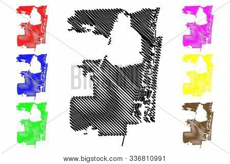 Fort Lauderdale City (united States Cities, United States Of America, Usa City) Map Vector Illustrat
