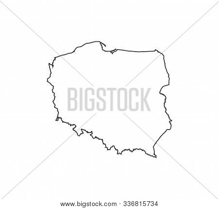 Poland Map On White Background. Vector Illustration.