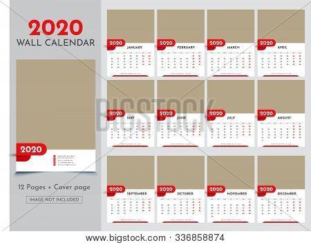 Calendar 2020 Templates In Vecto Design Illustration 16
