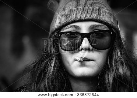 Cool Hipster Girl Image Photo Free Trial Bigstock