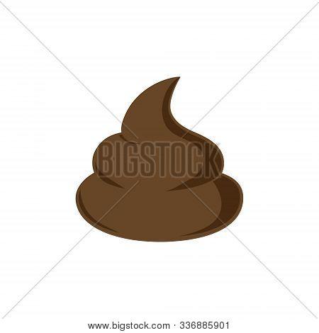 Pile Of Wtinky Putrid Poop Cartoon. Cartoon.