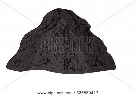 Pile Of Soil Isolated On White Background. Heap Of Earth, Soil, Organic Fertilizer, Substrate, Soil