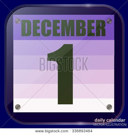 December 1 Icon. For Planning Important Day. December First. December Icon. Banner For Holidays And