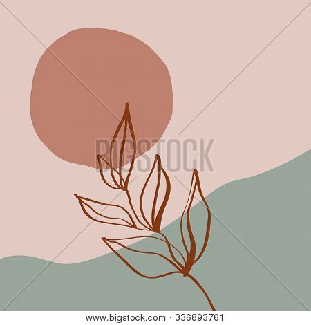 Terracotta Rust Art Print Abstract Modern Digital Painting Fashion Scandinavian Style Color Abstract