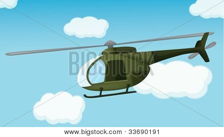 Illustration of an army helicopter