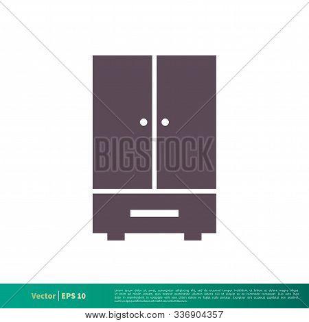 Dresser Cabinet - Furniture Interior Icon Vector Logo Template Illustration Design. Vector Eps 10.