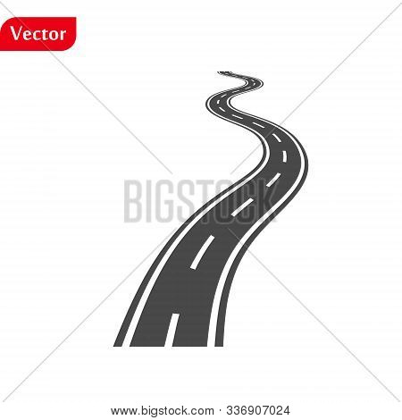 Vector Black Car Road Icon. Highway Symbol. Road Sign. Eps10