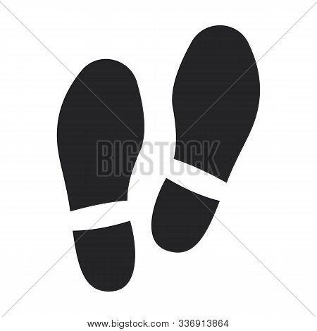 Print Of Shoe Vector Icon.black Vector Icon Isolated On White Background Print Of Shoe .