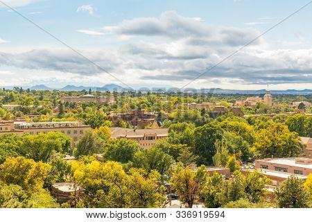 Santa Fe, New Mexico Skyline From Cross Of The Martyrs Park