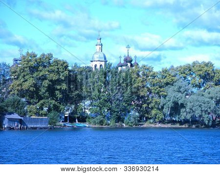 Chirch On Shore Of Lake Seliger In Osrashkov, Russia