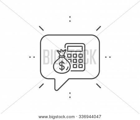 Calculator Money Bag Vector Photo