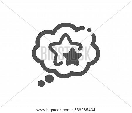 Star Rating Sign. Ranking Stars Speech Bubble Icon. Best Rank Symbol. Classic Flat Style. Simple Ran