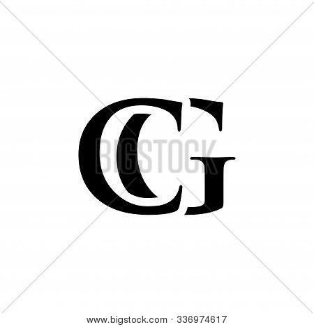 Initial Cg Alphabet Logo Design Template Vector