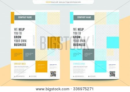 Corporate Blue Flyer Template Layout Design. Corporate Business Flyer, Brochure, Annual Report, Cata