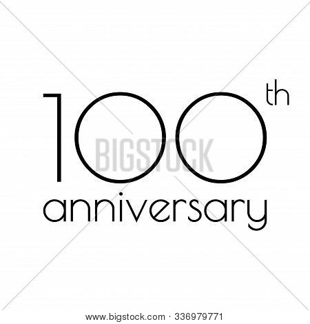 100th Anniversary Icon. 100 Years Celebrating And Birthday Logo. Vector Illustration.