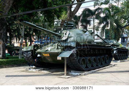 Ho Chi Minh City, Vietnam - November 20, 2019. Tank At War Remnants Museum Saigon