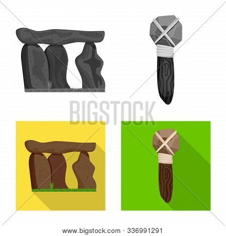 Vector Design Of Evolution And Prehistory Symbol. Collection Of Evolution And Development Stock Vect