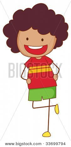 Illustration of a simple kid - EPS VECTOR format also available in my portfolio.