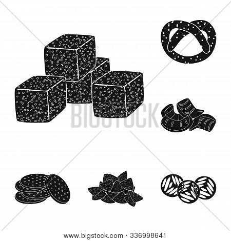 Vector Design Of Party And Cooking Icon. Collection Of Party And Crunchy Stock Vector Illustration.