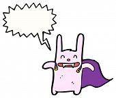 cartoon vampire rabbit poster