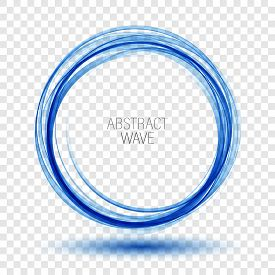 Abstract Vector Background Round Blue Wavy Circle Shape Lines Circles Transparent Wave Frame.vector