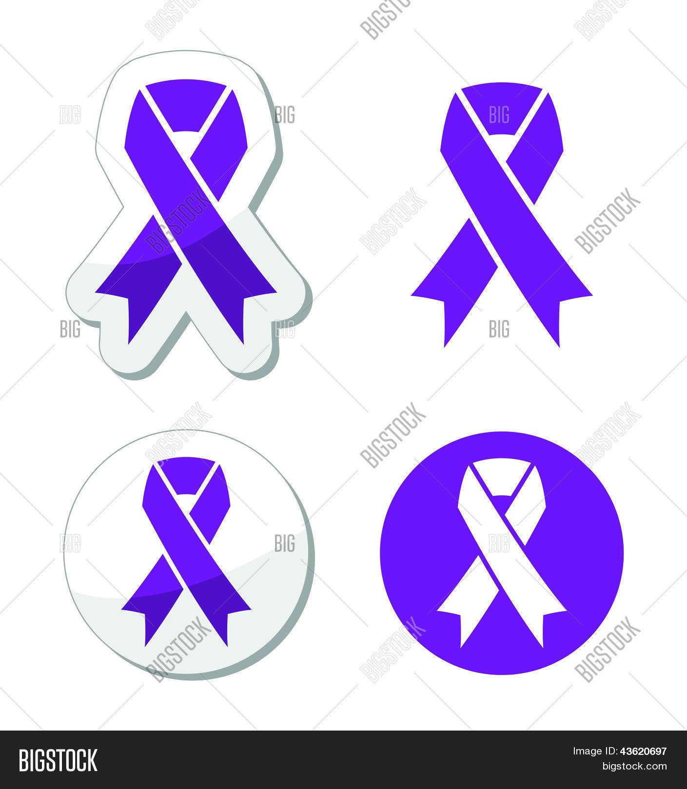 Purple Ribbon Vector Photo Free Trial Bigstock