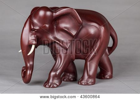 The elephant wood carvings
