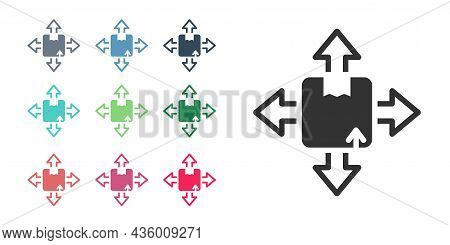 Black Carton Cardboard Box Icon Isolated On White Background. Box, Package, Parcel Sign. Delivery An