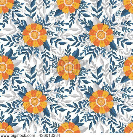 Seamless Pattern Flower.elegant Floral Design.botanical Print. Fashion Print.