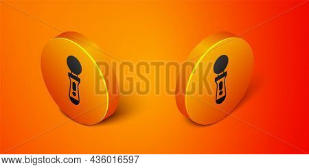 Isometric Vr Controller Game Icon Isolated On Orange Background. Virtual Reality Experience, Sensati