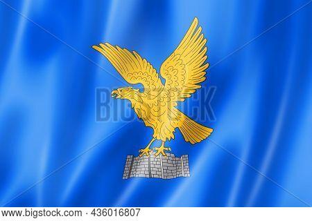 Friuli Venezia Giulia Region Flag, Italy Waving Banner Collection. 3d Illustration