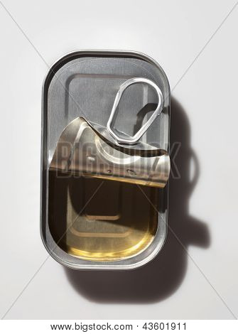 Opened Sardine Can