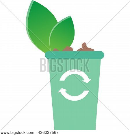 Garbage Waste Bin Icon Emission Recycle Vector