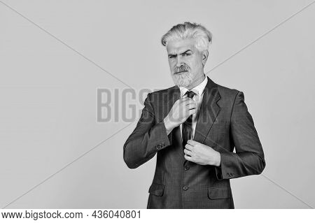 Strategy Effective Startup. Business Consulting. Mature Man Dyed Beard And Hair. Barbershop Hairdres