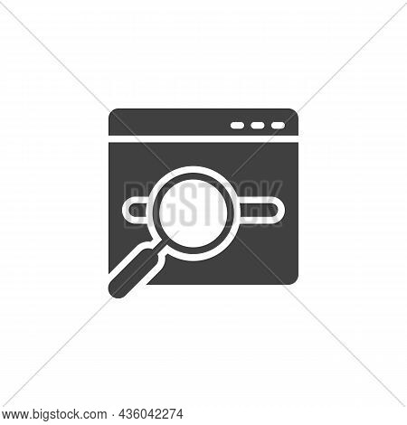 Keyword Research Vector Icon. Filled Flat Sign For Mobile Concept And Web Design. Seo - Search Engin